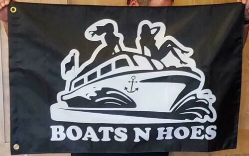 Boats and Hoes & Step Brothers flag banner man cave 2x3 RV Boat DOUBLE SIDED