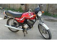 Honda H100 motorcycle smaller than 125 125cc