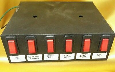 Star Signal 6 Switch Panel Lighted Rocker With Legends