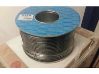 Two reels Coax cable 100m long new not used.