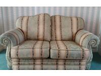 Two seater settee &arm chair