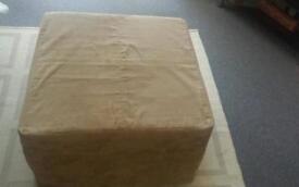 Suede futon cube