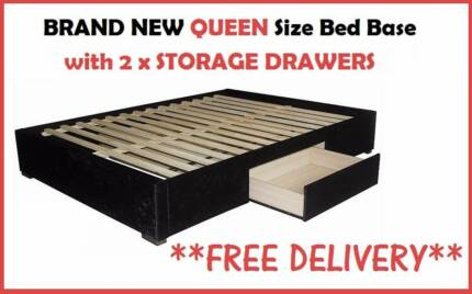 BRAND NEW Queen Size Ensemble with Storage Drawers DELIVERED FREE