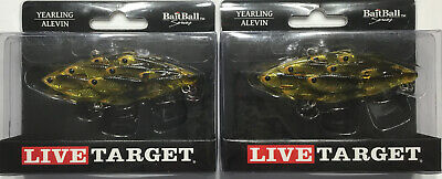 """3 lures assortment koppers live target yearling baitball 2 1//2/"""" 5//8oz rat l trap"""