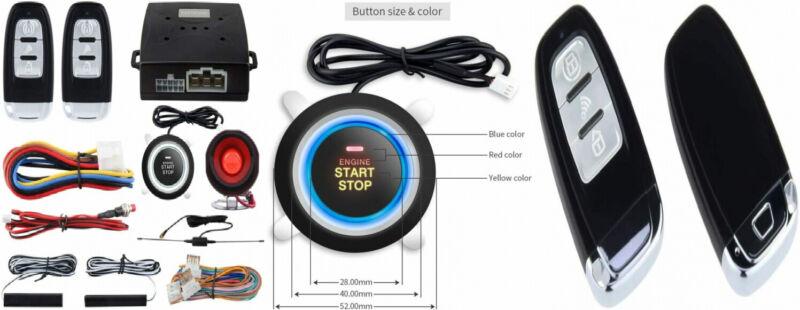 Easyguard Ec003 Smart Key Pke Passive Keyless Entry Car Alarm System Push    701142524613