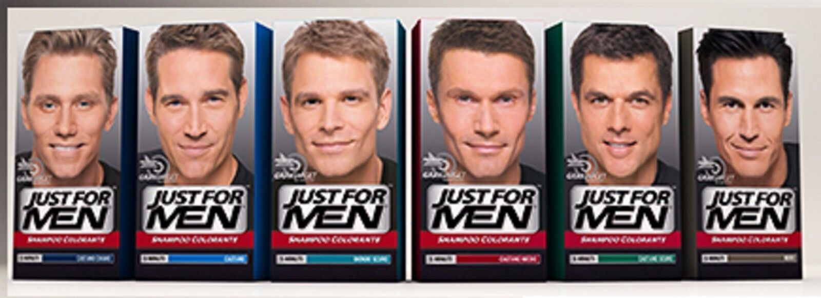 Just For Men Shampoo Farbstoff Mann Färben Haare Weiß Grautöne Farbe Wahl