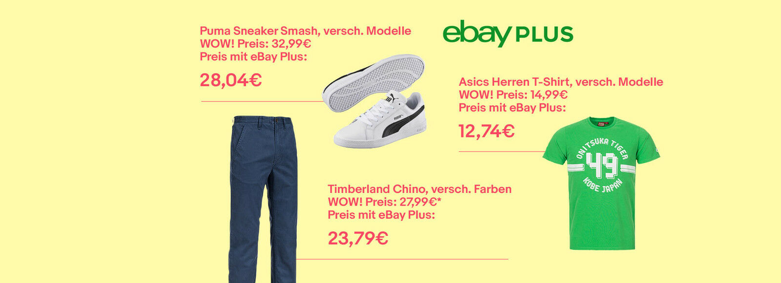 500+ WOW! Angebote & als eBay Plus-Mitglied nochmal 15%* sparen