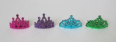 12 Mini Plastic Princess Queen Tiara Crown Combs Party Bag Pinata Goody Costume