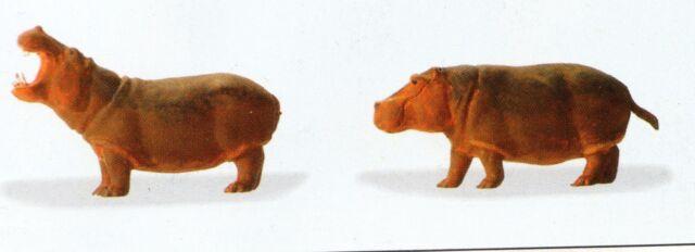 Circus Flußpferde Zoo Zirkus Preiser 20373 Figuren Spur HO (16,5 mm) Zubehör OVP
