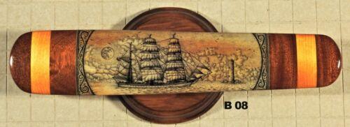 Scrimshaw Swordfish Bill K Henry Whale Ship Elissa  B08 S36