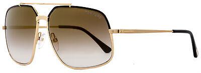 Tom Ford Aviator Sunglasses TF439 Ronnie 01G Rose Gold/Black (Tom Ford Aviator Sunglasses Men)