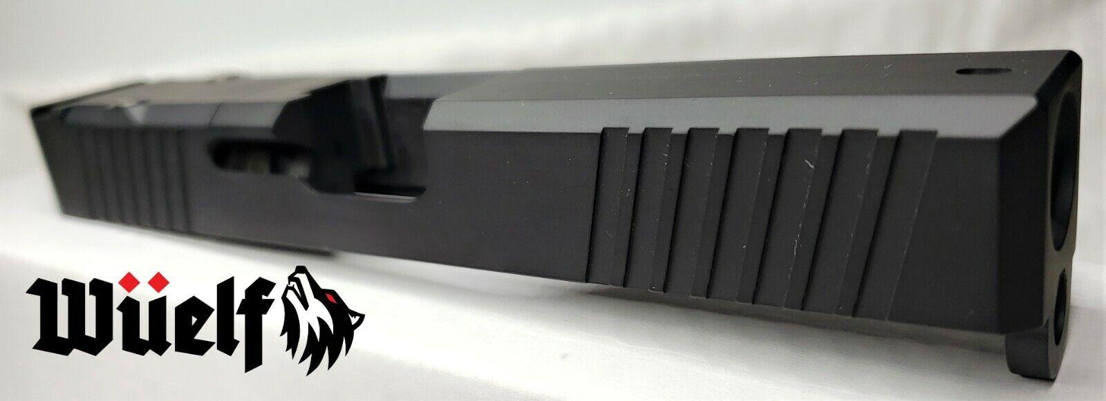 Glock 17 Slide Chamfer Edge w//RMR and Cover by Wüelf in Black Cerakote