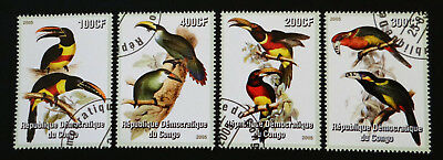 Philatelic STAMPS FROM OVER THE WORLD - 960 BIRDS TOUCANS REPUBLIQUE CONGO 2005