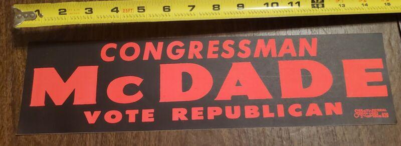 PA Congressman Joseph McDade Campaign Bumper Sticker