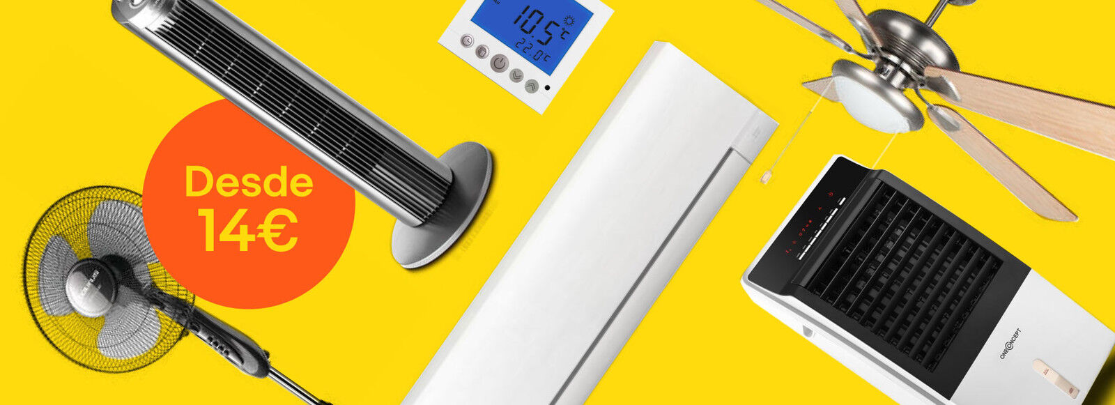 La mejor selección de ventiladores y climatización desde 14€
