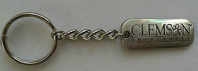 Clemson Tigers NCAA College Football Silver Dog Tag Key Chain Free Ship College Dog Tag