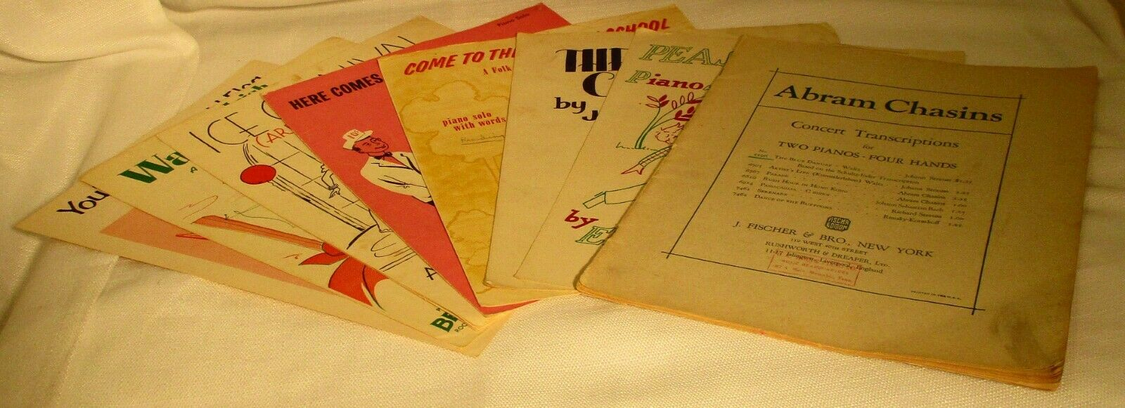 Lot Of 8 Pieces Vintage Sheet Music SKU 3800  - $19.99