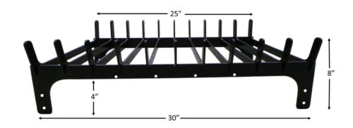 """Fireplace log cradle grate 30"""" across the front.....can add a name plate"""