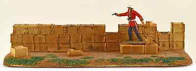 Conte Collectibles Rorke's Drift Biscuit Box Wall - painted 54mm toy accessory