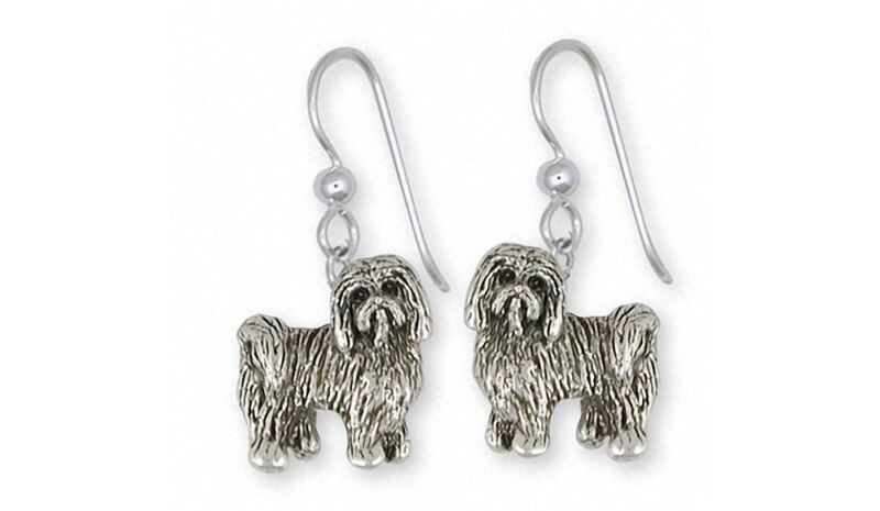 Tibetan Terrier Earrings Jewelry Sterling Silver Handmade Dog Earrings TTR1-E