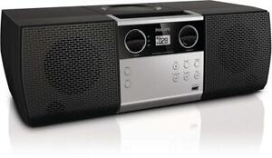NEW Philips MCM1006 Micro Portable Hi-Fi System, CD Player, MP3 Speaker, USB Input and FM Radio Condtion: New