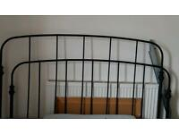 Ikea metal kingsize bed frame