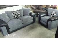 New 3 seater jumbo cord sofa and armchair only £260