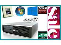 4GB Ram DDR3, HP PC Desktop, AMD 3.0GHz, 250GB HD, Minecraft