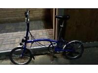 Brompton bike M6L Blue