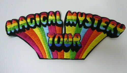 "The BEATLES-Magical Mystery Tour Embroidered Iron-On Patch - 4.75"" x 2"""
