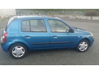 FSH 03' Renault clio 1.2 FULL MOT 5 DOOR MANY STAMPS + INVOICES MICRA YARIS FIESTA POLO CORSA ASTRA