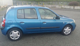 FSH 03' Renault clio 1.2 LONG MOT 5 DOOR MANY STAMPS + INVOICES MICRA YARIS FIESTA POLO CORSA ASTRA