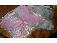 Fairy wings. Pink x 3....White x 4.