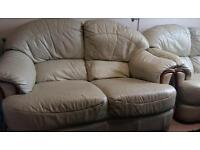 2 seater leather sofa 1 x leather armchair