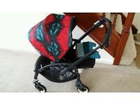 Beautiful Bugaboo bee plus black frame with pendleton hood set pushchair pram buggy stroller