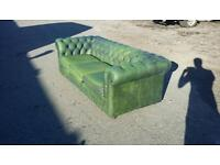 3 seater green antique chesterfield great condition