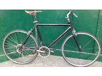 22 inch lightweight black Hybrid XL large frame Bike Commuter, Town Bicycle