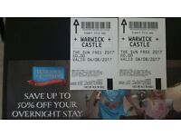 2 x Warwick Castle Tickets for Sunday 6/8/17