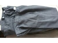 Two pairs grey school trousers 7-8 years