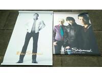 A Pair of Large Ben Sherman Fashion Shop Posters