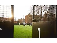 Need 2 players for friendly 5 a side football today 8pm at White City