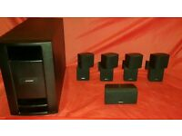 Bose Lifestyle Acoustimass Double Cube Speakers And Subwoofer