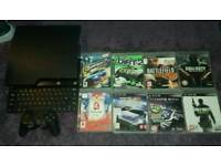 Ps3 Slim Line 800gb With Games ghost is ther but no case comes with other game