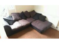 Large L shaped sofa grey