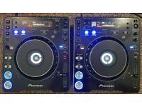 2 X PIONEER CDJ 1000 MK2 LIKE NEW ,2 Sdcards dj decks