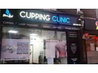 Hijama Blue Leaf Cupping Clinic Massage IPL Hair Removal