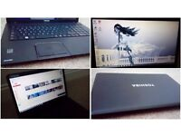 """as new used only few times17"""" but slimmer and lighter fast multimedial laptop Toshiba, Windows 10"""