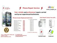 Apple iPhone Broken Screen LCD Glass Replacement Repair Service For IPhone 5 / 6 / s / 7 / 8 / Pluss