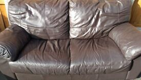 DFS 3 seater real leather sofa