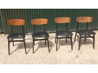 Vintage Retro 1960s Four Dining Chairs